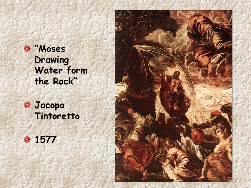 Moses Drawing Water form the Rock