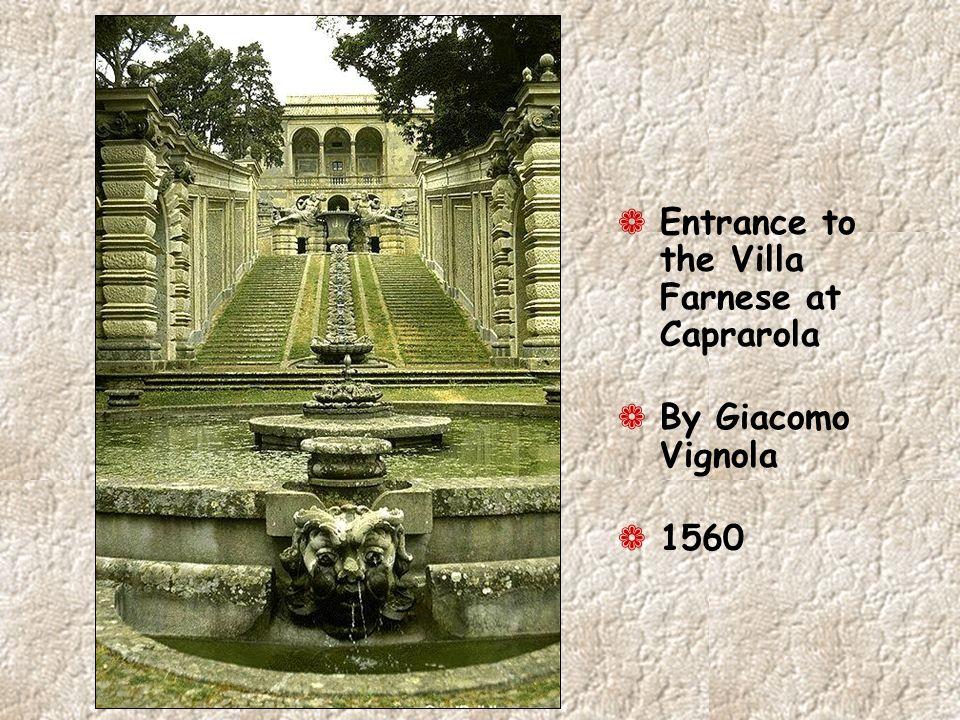 Entrance to the Villa Farnese at Caprarola