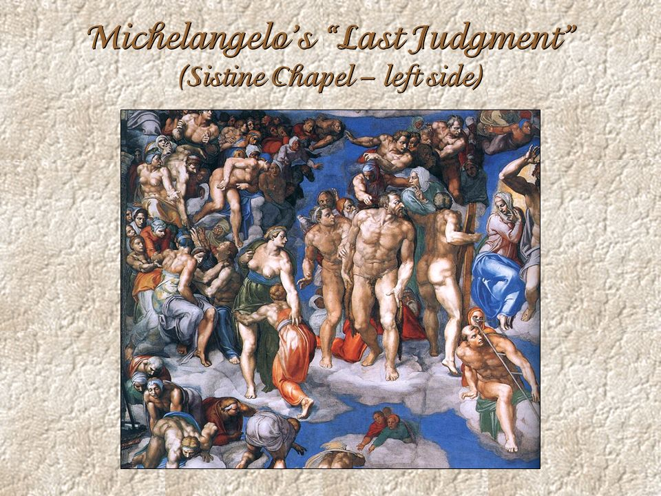 Michelangelo's Last Judgment (Sistine Chapel – left side)