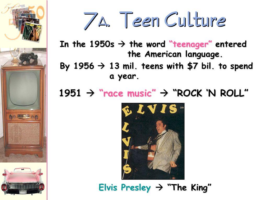 1951  race music  ROCK 'N ROLL Elvis Presley  The King