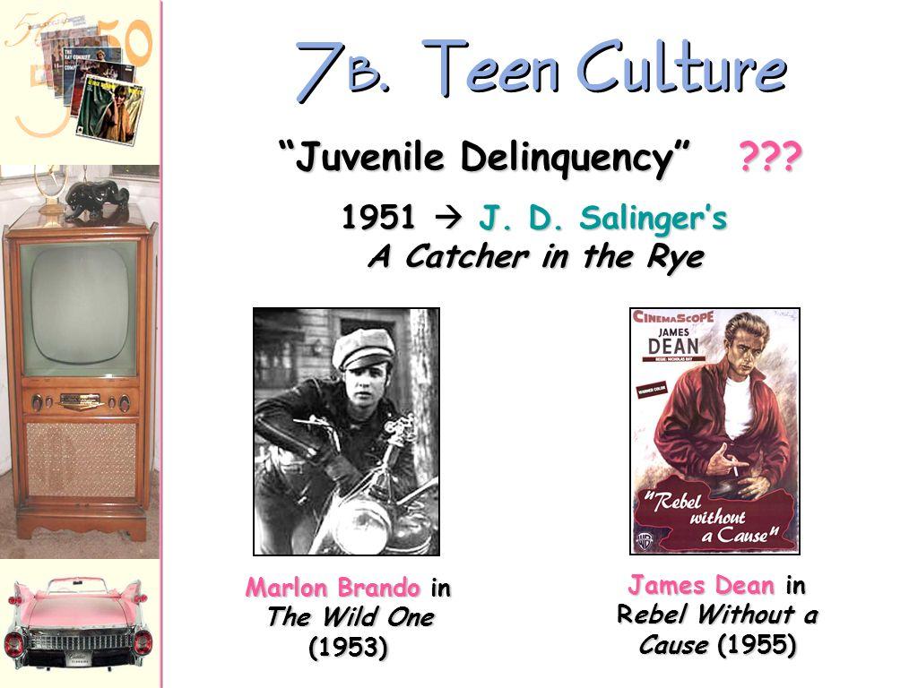 7B. Teen Culture Juvenile Delinquency