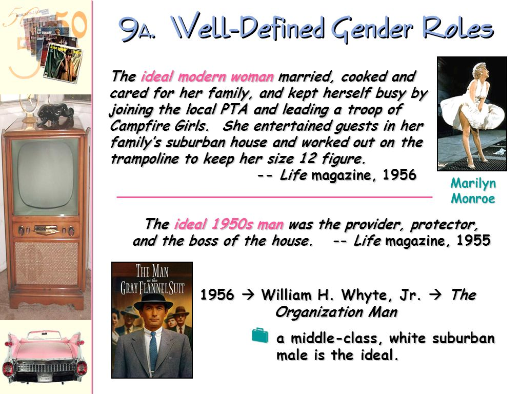 9A. Well-Defined Gender Roles