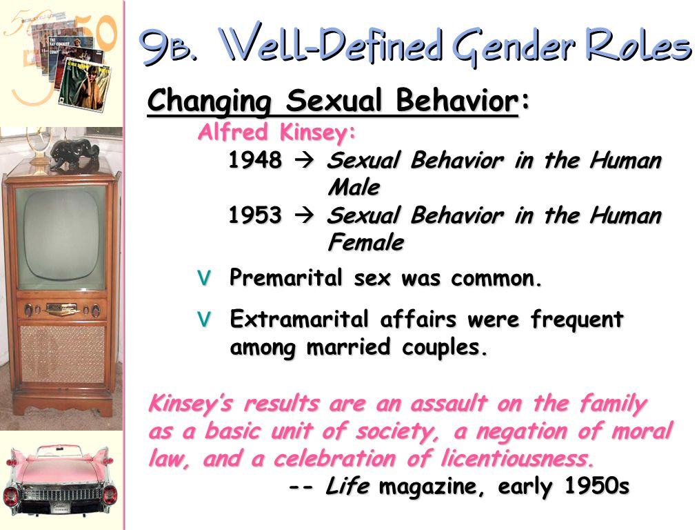 9B. Well-Defined Gender Roles