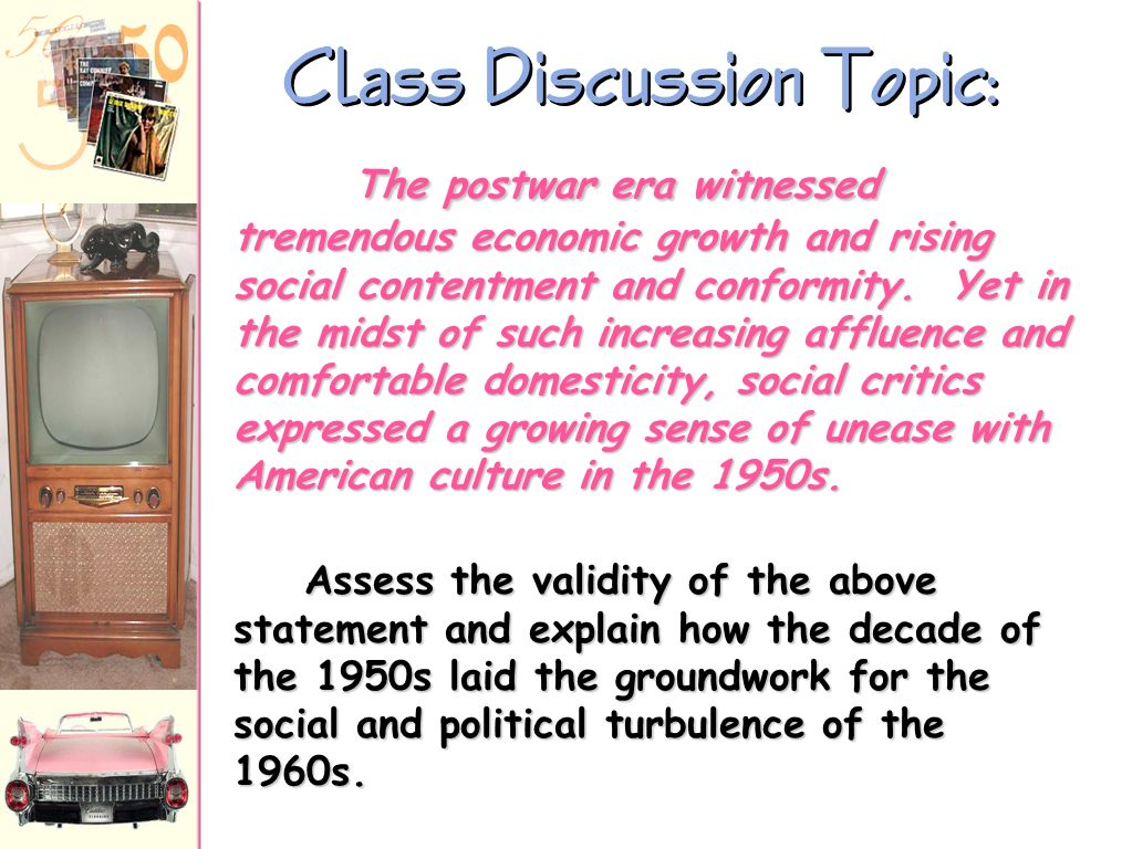 Class Discussion Topic:
