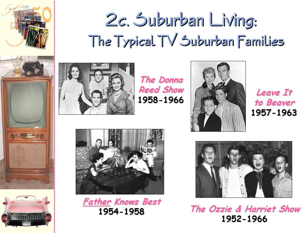 2c. Suburban Living: The Typical TV Suburban Families