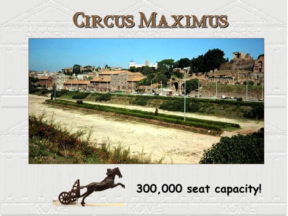 Circus Maximus 300,000 seat capacity!
