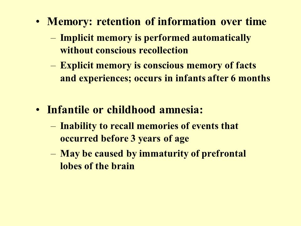 Cognitive Development in Infancy - ppt video online download