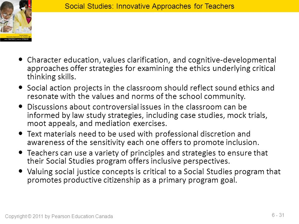 Innovative Classroom Approach ~ Chapter the study of controversial issues in social