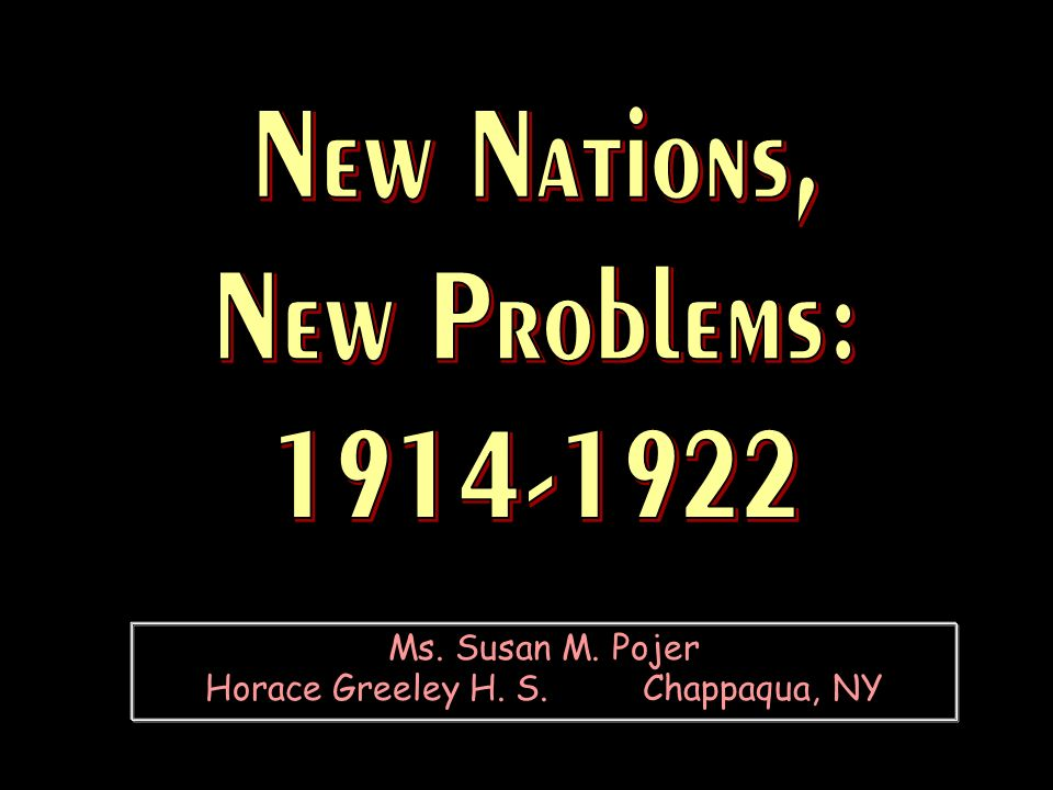 Ms. Susan M. Pojer Horace Greeley H. S. Chappaqua, NY