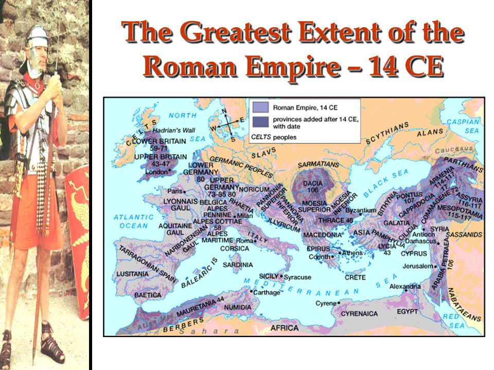 The Greatest Extent of the Roman Empire – 14 CE