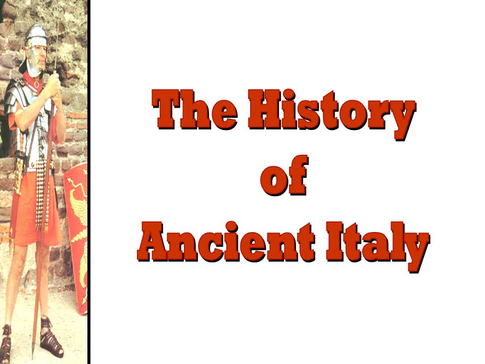 The History of Ancient Italy