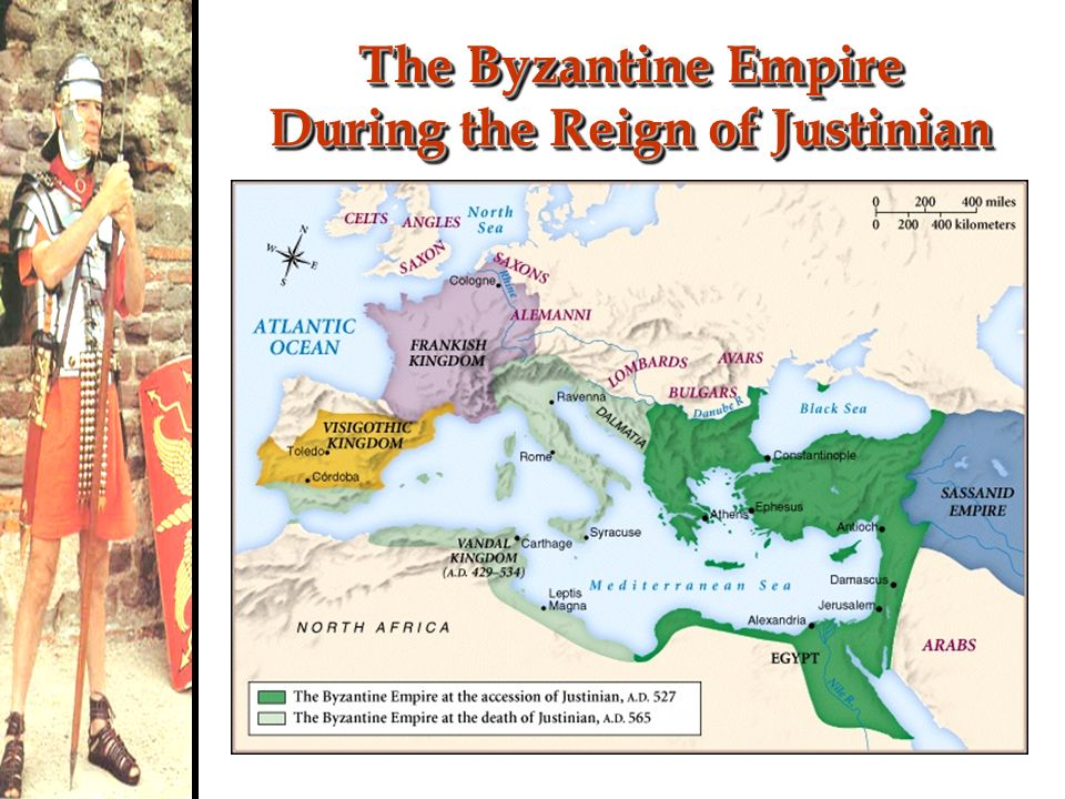 The Byzantine Empire During the Reign of Justinian