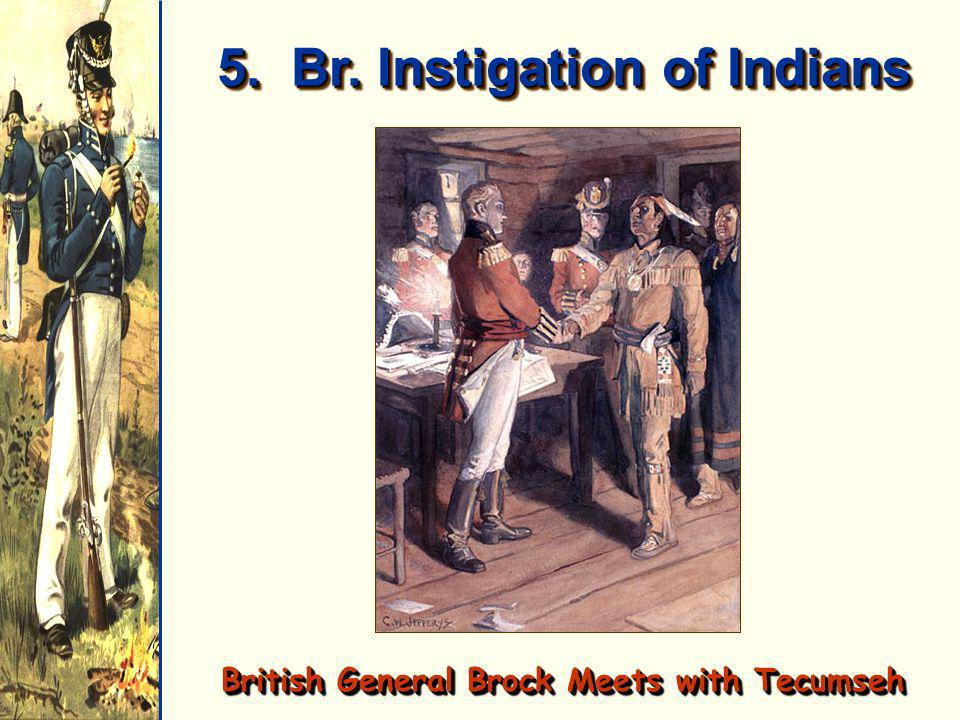 5. Br. Instigation of Indians