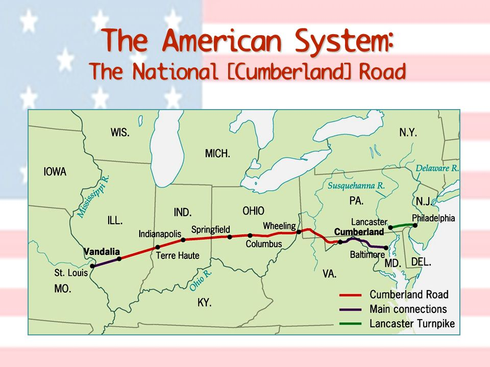 The American System: The National [Cumberland] Road