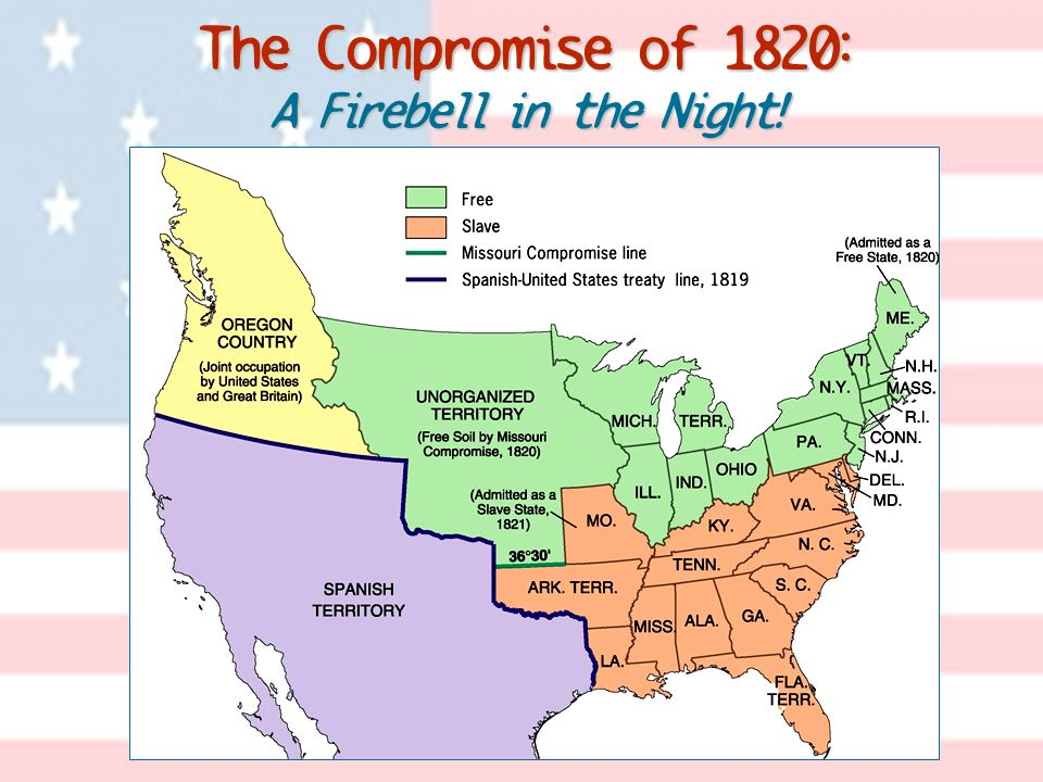 The Compromise of 1820: A Firebell in the Night!