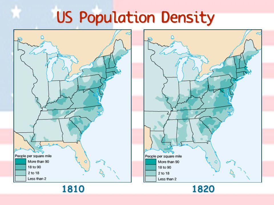 US Population Density 1810 1820