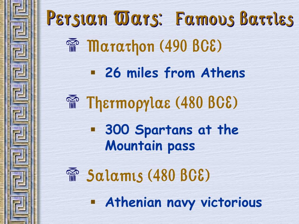 Persian Wars: Famous Battles