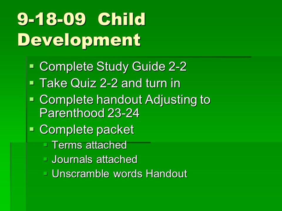 Child Development Complete Study Guide 2-2