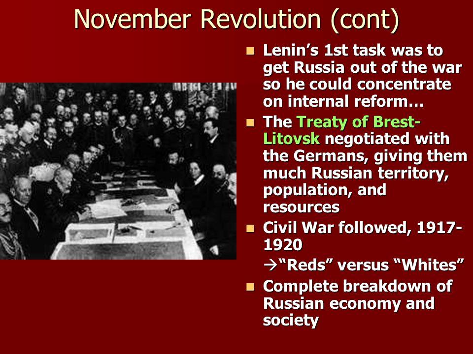 November Revolution (cont)