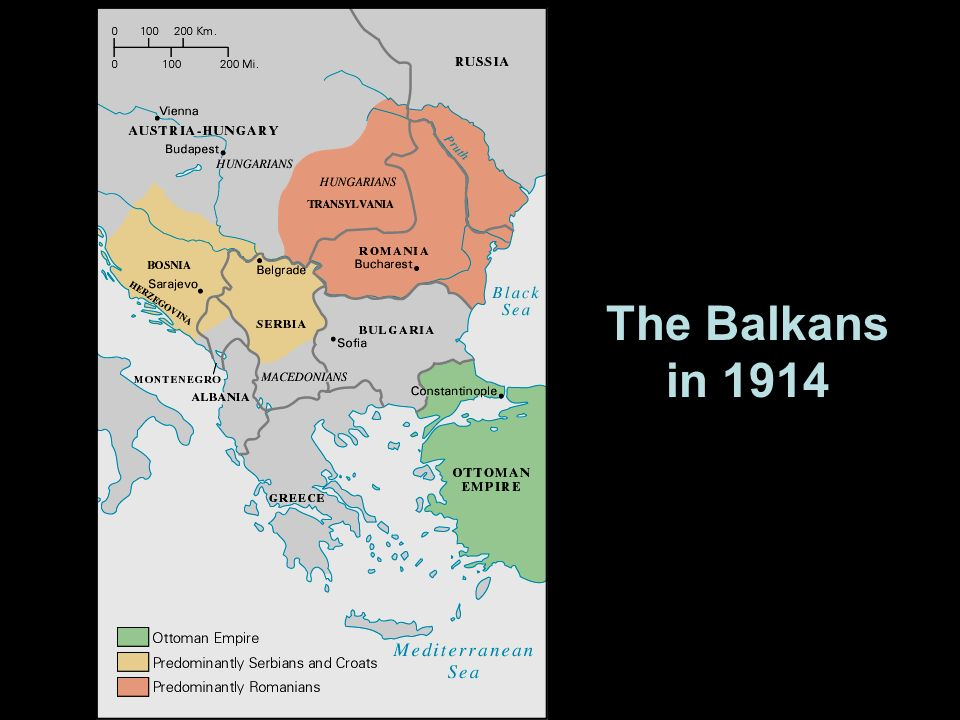 The Balkans in 1914
