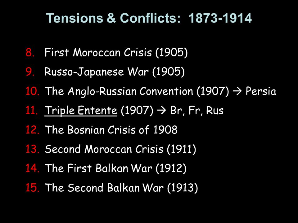 Tensions & Conflicts: