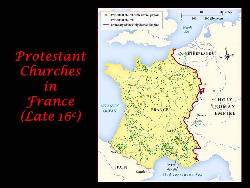 Protestant Churches in France (Late 16c)