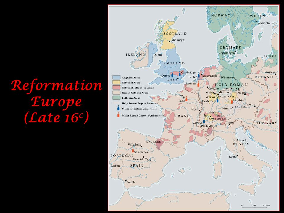 Reformation Europe (Late 16c)