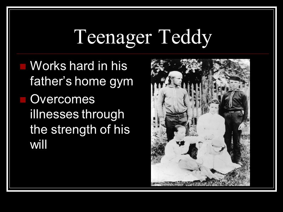 Teenager Teddy Works hard in his father's home gym
