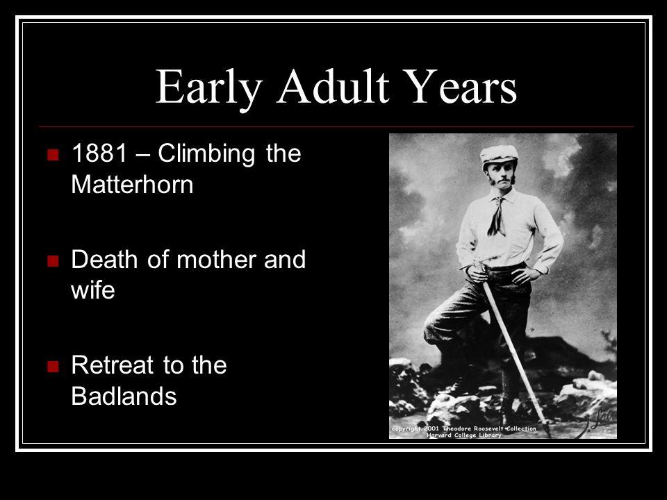 Early Adult Years 1881 – Climbing the Matterhorn