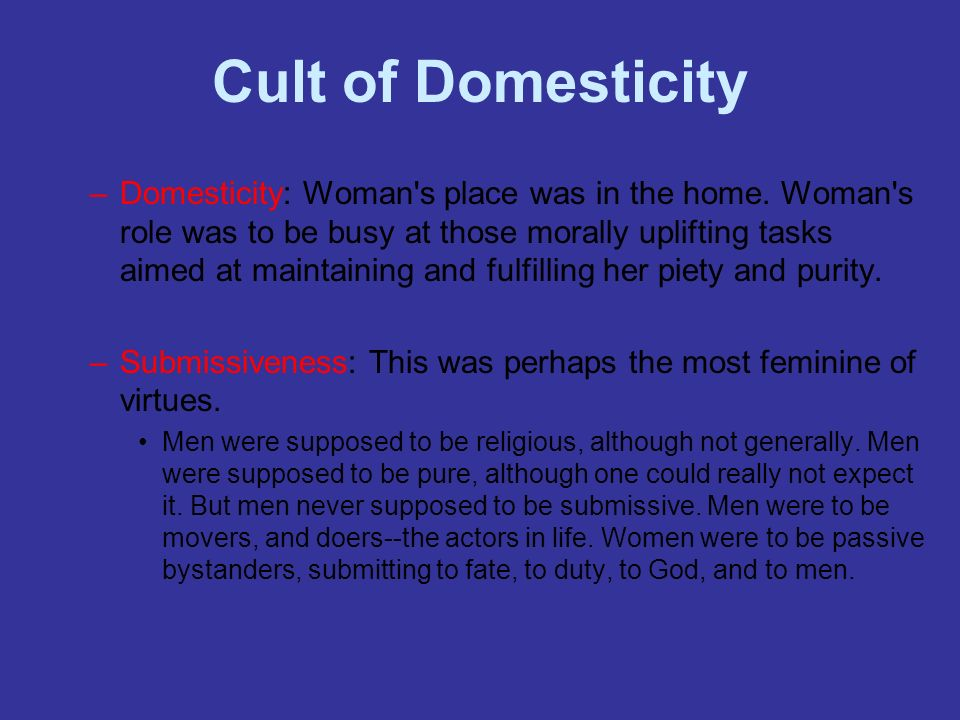 Cult of Domesticity