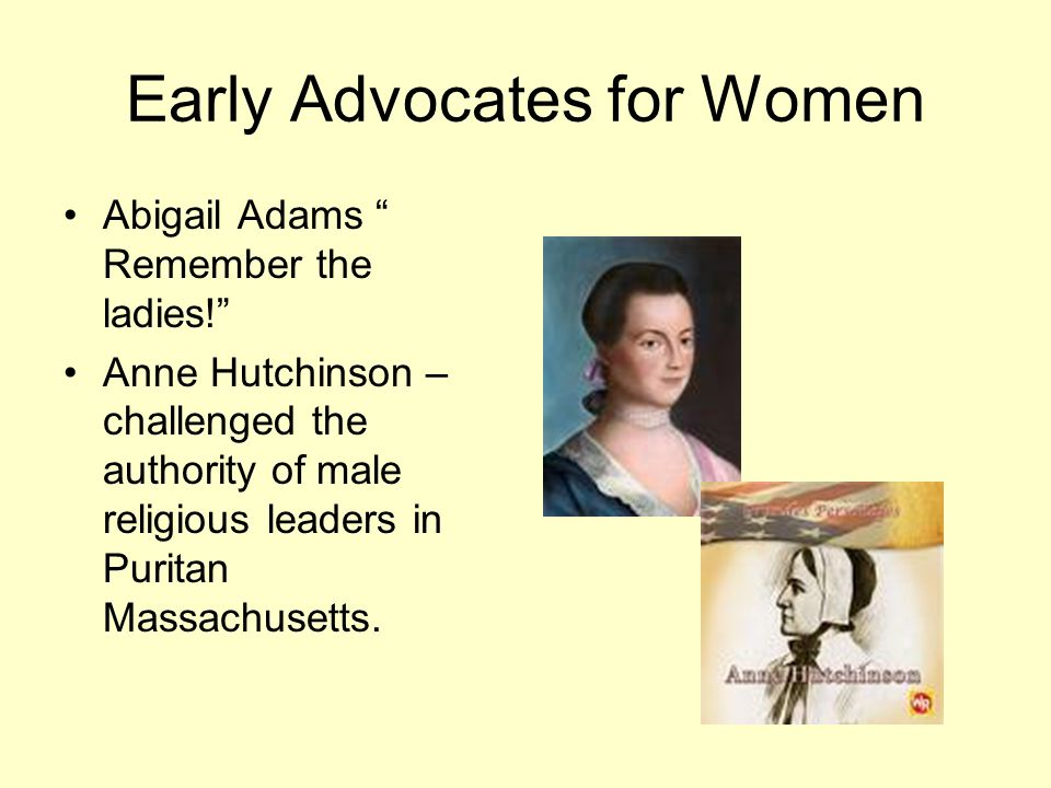 Early Advocates for Women