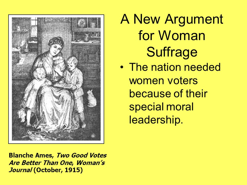 A New Argument for Woman Suffrage