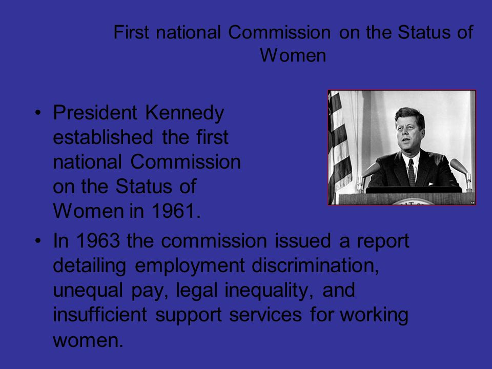 First national Commission on the Status of Women