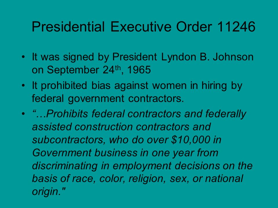 Presidential Executive Order 11246