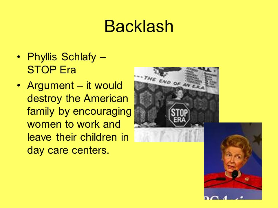 Backlash Phyllis Schlafy – STOP Era