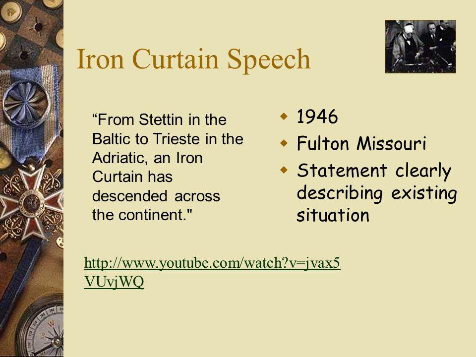 Iron Curtain Speech 1946 Fulton Missouri