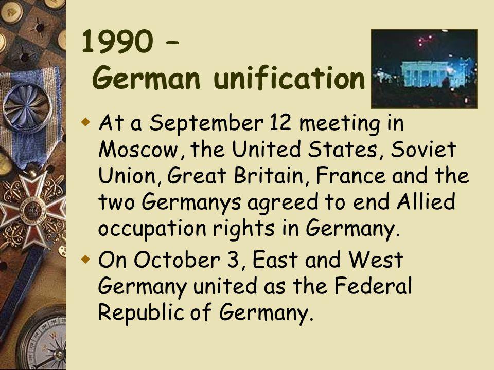 1990 – German unification