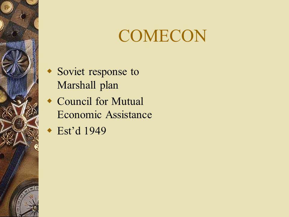 COMECON Soviet response to Marshall plan
