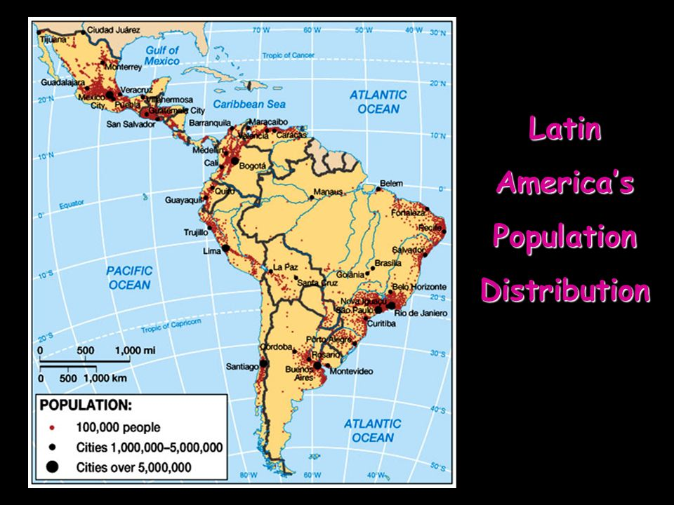 Latin America's Population Distribution
