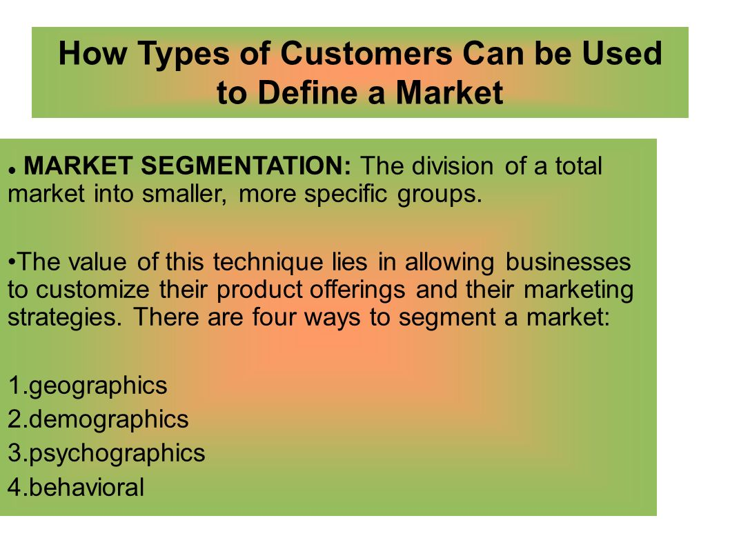 Between Segments They Are As Dissimilar Possible 11 Segmenting Service Markets Market Segmentation11 Various Ways