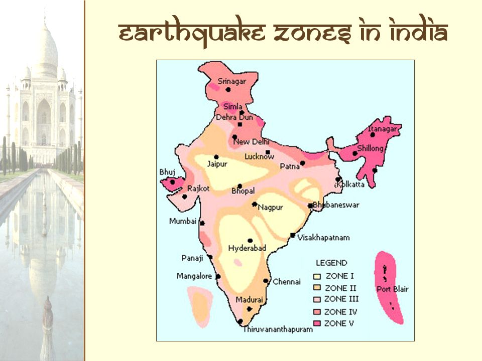 Earthquake Zones in India