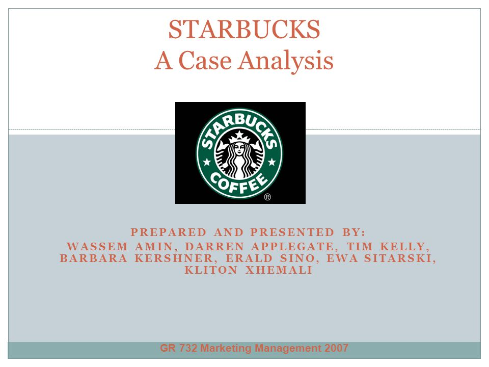 case analysis starbucks Starbucks, a coffee brand which was launched by jerry baldin, gordon bowker and zew siegel in 1971 in seattle in united states of america, emerged like a famous.