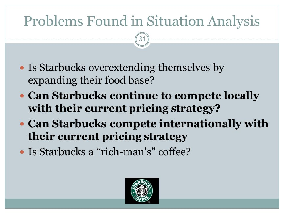 marketing strategies of starbucks analysis Starbucks: marketing plan starbucks' background situation analysis strengths weaknesses opportunities threats strategic market plan marketing mix strategies brand product price place promotion swot analysis revenue & profit plan marketing budget performance review starbucks originated in seattle's.