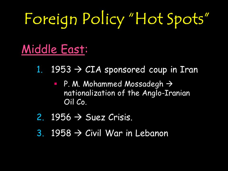 Foreign Policy Hot Spots