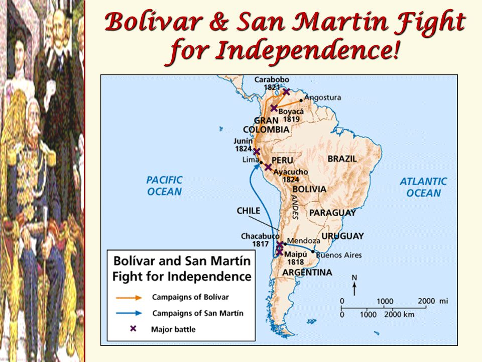 Bolivar & San Martin Fight for Independence!