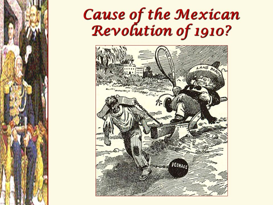 Cause of the Mexican Revolution of 1910