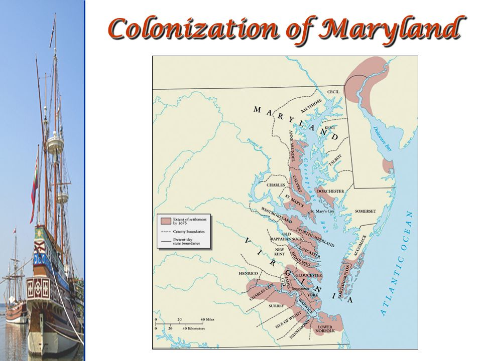 Colonization of Maryland