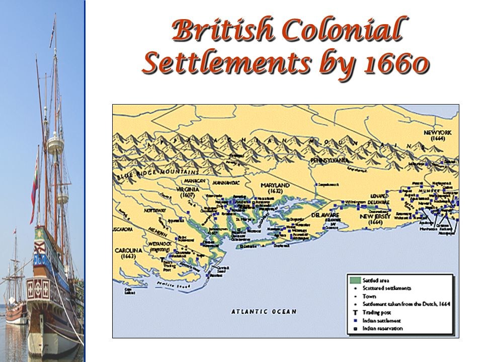 British Colonial Settlements by 1660