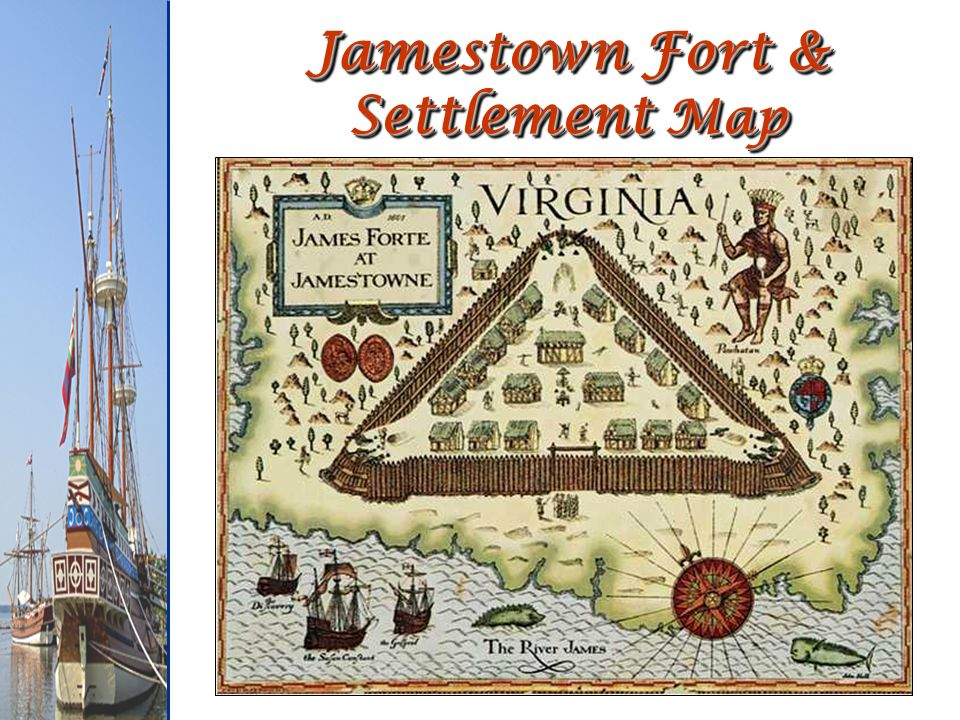 Jamestown Fort & Settlement Map