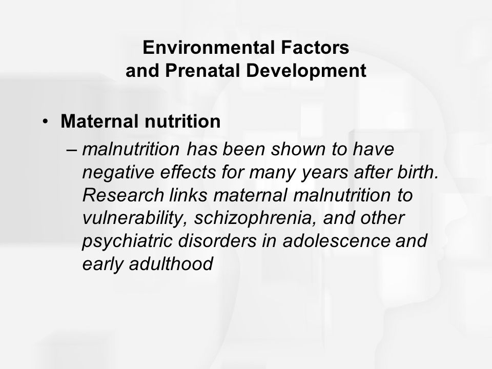 factors that negatively effect fetal development essay This free health essay on effect of group b streptococcus in  such as the use of internal fetal monitoring devices and more  development of rapid testing.